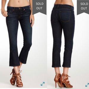 J Brand Gigi Pure Cropped Flare Dark Wash Jeans